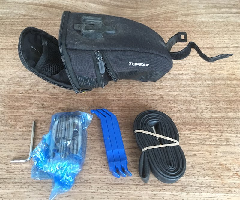 contents of my saddlebag - The (Bike) Tools That I Use Most: 6 'Must Have' Implements