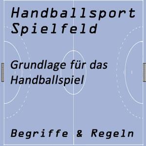 handball und spielfeld spielflache