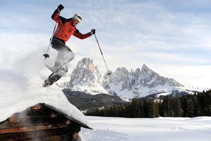 In vacanza sulla neve nei masi di montagna