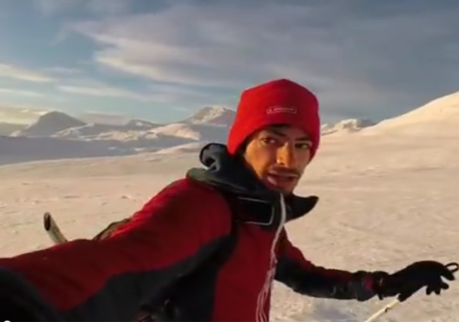 Kílian Jornet sulle Alpi di Lynge