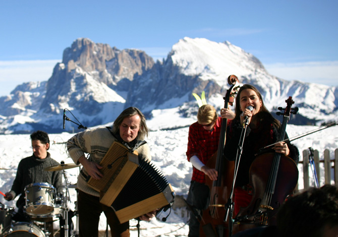 Swing On Snow, musica ad alta quota