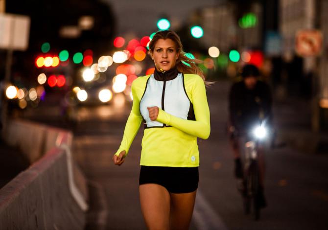 Running Buio Notte Città