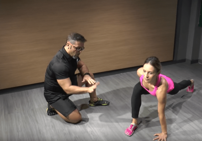 Video esercizio push up Knee up fitness