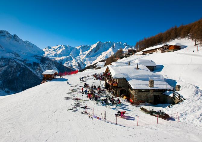 Pila Snowland Apertura Piste Sci Vista terrazze panoricamiche - foto di Damiano Levati