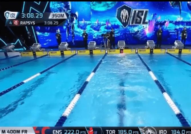 L'incredibile errore di Danas Rapšys all'ISL: si ferma ai 350 metri poi riparte e vince i 400 stile libero