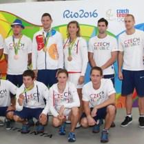 23.8.2016 Praha / ČR / Sport/ LOH RIO / olympionici/ Prilet medailistu a olympioniku z LOH RIO 2016 FOTO CPA