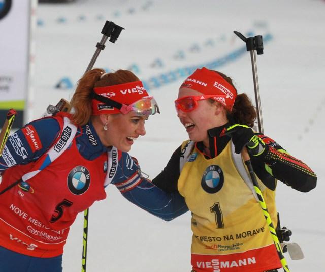 18.12.2016 Nove mesto na Morave / svetovy pohar/ biatlon/ sport/hromadny start zeny/ women / foto CPA