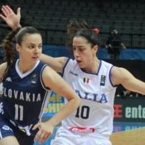 25.6.2017 / Praha / sport ú basketbal/ ME v basketbalu zen Italie vs Slovensko Foto CPA