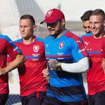28.8.2017 Praha / sport/ fotbal/ reprezentace CR/ sraz reprezentace pred utkanim s Nemeckem trenink FOTO CPA