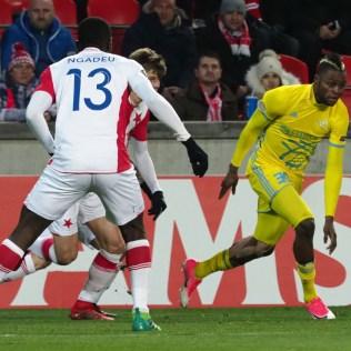 7.12.2017 Praha/ sport/ fotbal/ Evropska liga/ Evropská fotbalová liga - 6. kolo základních skupin:Slavia - Astana 0:1 FOTO CPA