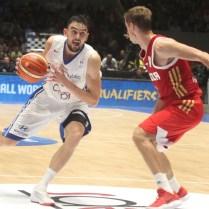 Česká republika Rusko kvalifikace na MS v Čině basketbal Tomas Satoransky foto CPA