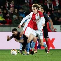 osmifinále Evropské ligy, v ní? slávisté po velkém dramatu vít?zstvím 4:3 vy?adili FC Sevillu.