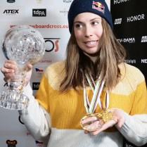 18.3.2019 TK Eva Samkova snowboard cross velky globus 1. Misto vitezka