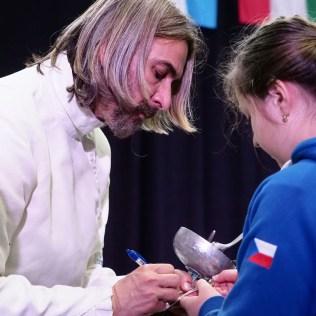 6.4.2019 All Stars Game Praha 2019, exhibiční turnaj světových hvězd v šermu kordem. PHOTO CPA