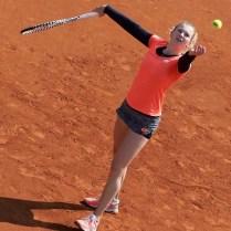 Tennis Tournament J&T Banka Prague open Tennis. Prague Czech Republic Barbora Strycova /CZE/ VS Katerina Siniakova /CZE/ Photo by CPA
