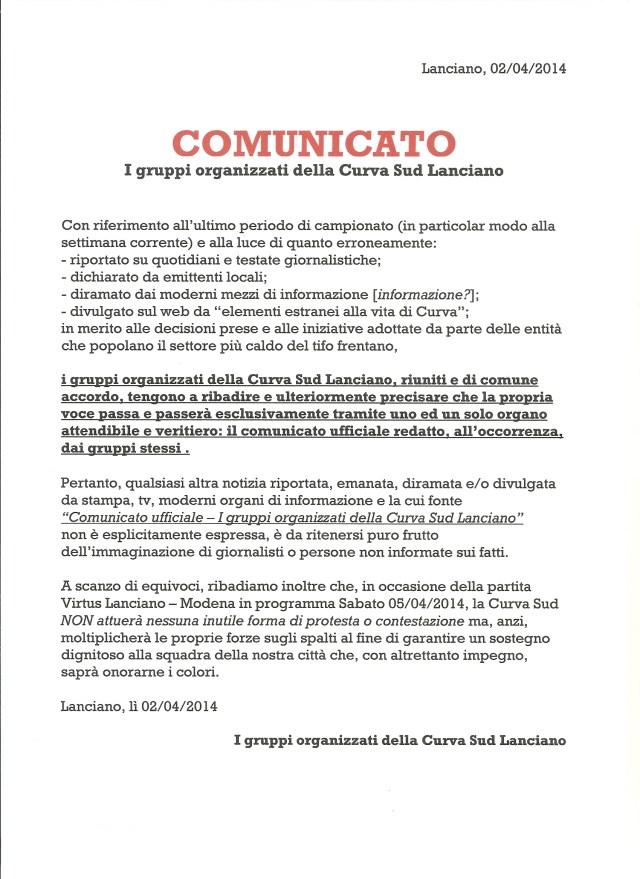 ComunicatoLanciano