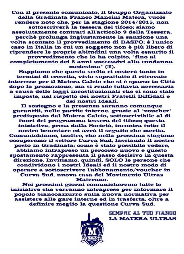 COMUNICATO-GRUPPO-ORGANIZZATO-GRADINATA-FRANCO-MANCINI-MATERA