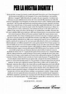 Comunicato Lanerossi Crew