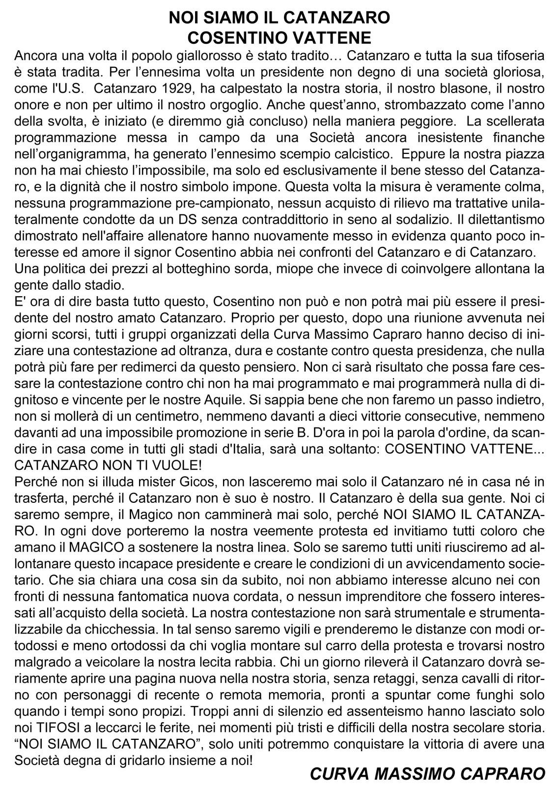 COSENTINO VATTENE