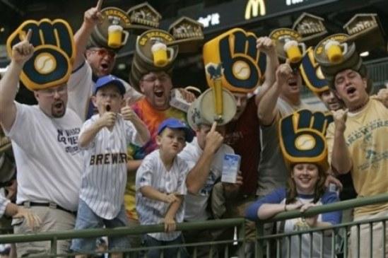 Marlins Brewers Baseball