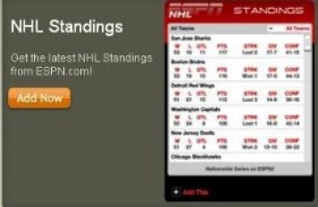 New NHL Widgets On ESPN Com Makes It Almost Seem Like ESPN Gives A