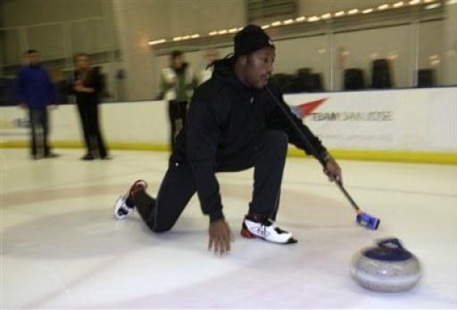 Davis Goes Curling