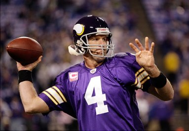 Brett Favre's Hall of Fame locker display includes Vikings jersey ...