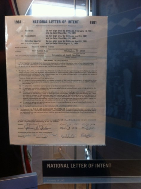 national letter of intent cool dean smith s recruiting letter to michael 1509