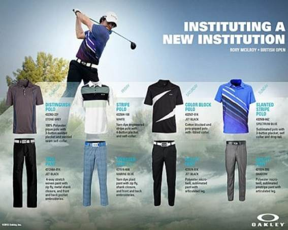 breaking  tiger woods and rory mcilroy will wear clothes