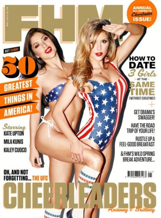 arianny-celeste-and-brittney-palmer-fhm-cheerleader-issue-cover