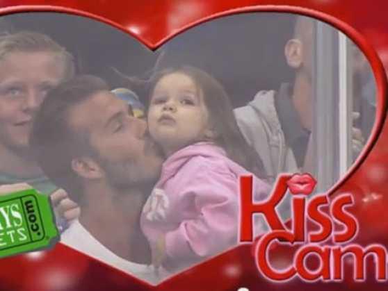david-beckham-daughter-kiss-cam
