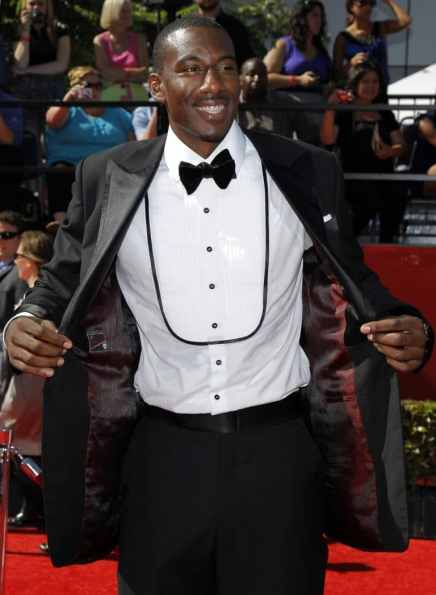 New York Knicks NBA player Amare Stoudemire arrives at the 2010 ESPY Awards in Los Angeles