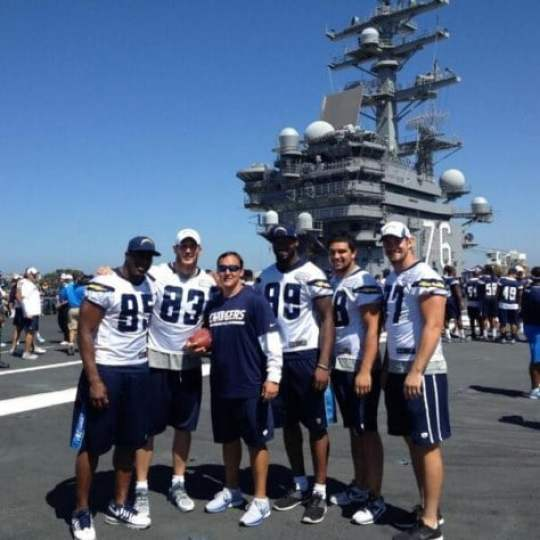 San Diego Chargers Hold Walkthrough Aboard An Aircraft