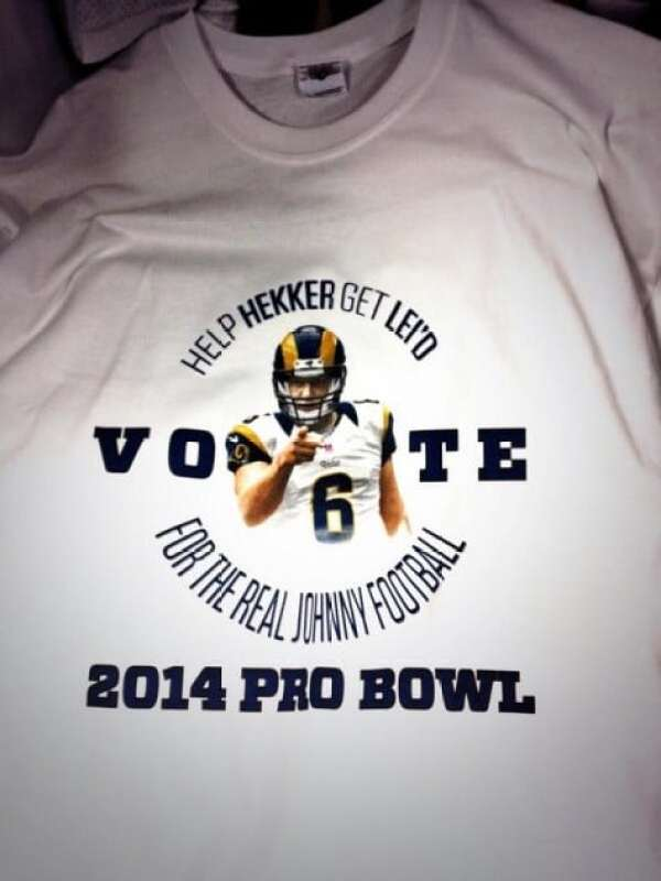sale retailer 965d1 7fc0b Johnny Hekker push for Pro Bowl shirts: 'HELP HEKKER GET LEI ...