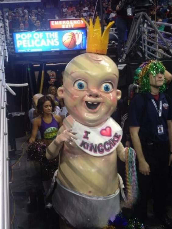 Pelicans Creepy King Cake Baby Embroiled In Horror Film