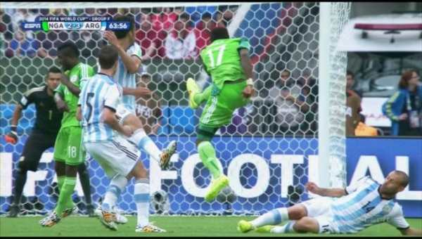 nigeria-player-arm-busted