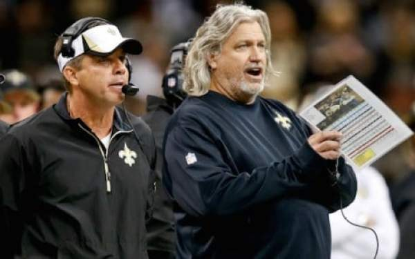 Dec 8, 2013; New Orleans, LA, USA; New Orleans Saints head coach Sean Payton and defensive coordinator Rob Ryan during the fourth quarter of a game at Mercedes-Benz Superdome. The Saints defeated the Panthers 31-13. Mandatory Credit: Derick E. Hingle-USA TODAY Sports