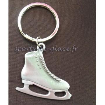 porte cles patin a glace en etain