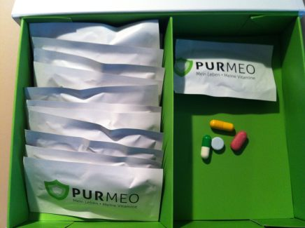 Purmeo-Box mit Tagesportionen