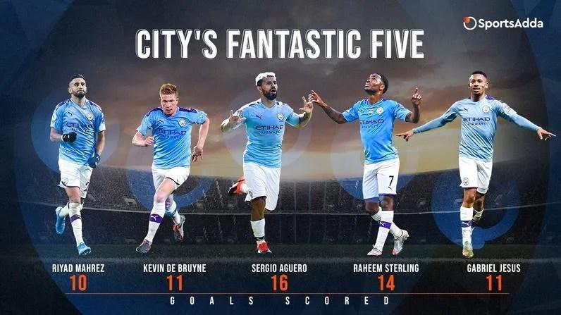Manchester City forwards enter Premier League record books