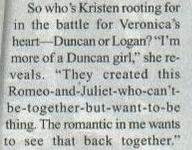 Kristen Bell Ships Veronica and Duncan