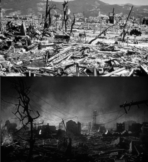 DestructionHiroshimaAndGodzilla