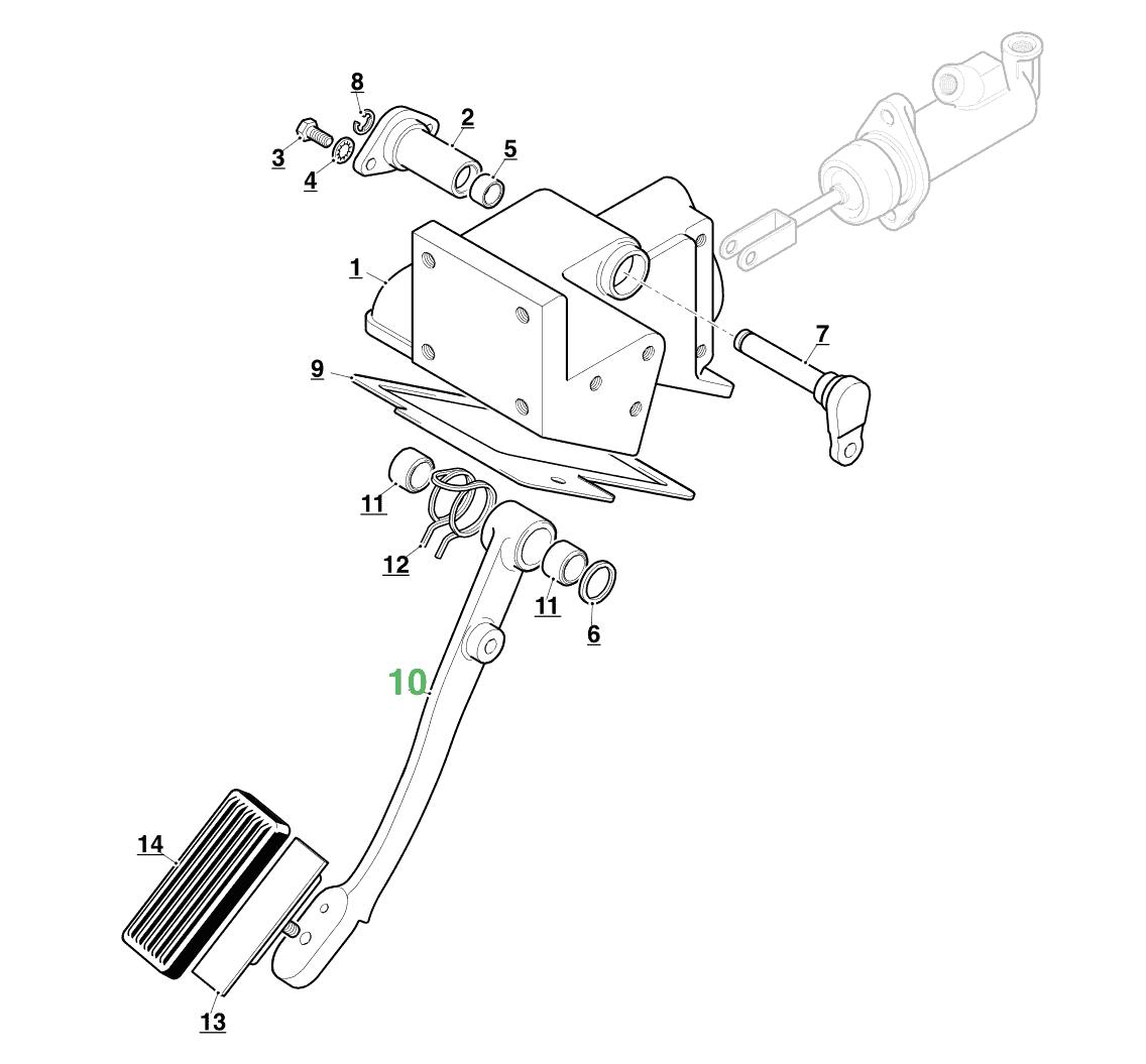 Jaguar Xke Clutch Pedal Assembly Rhd C
