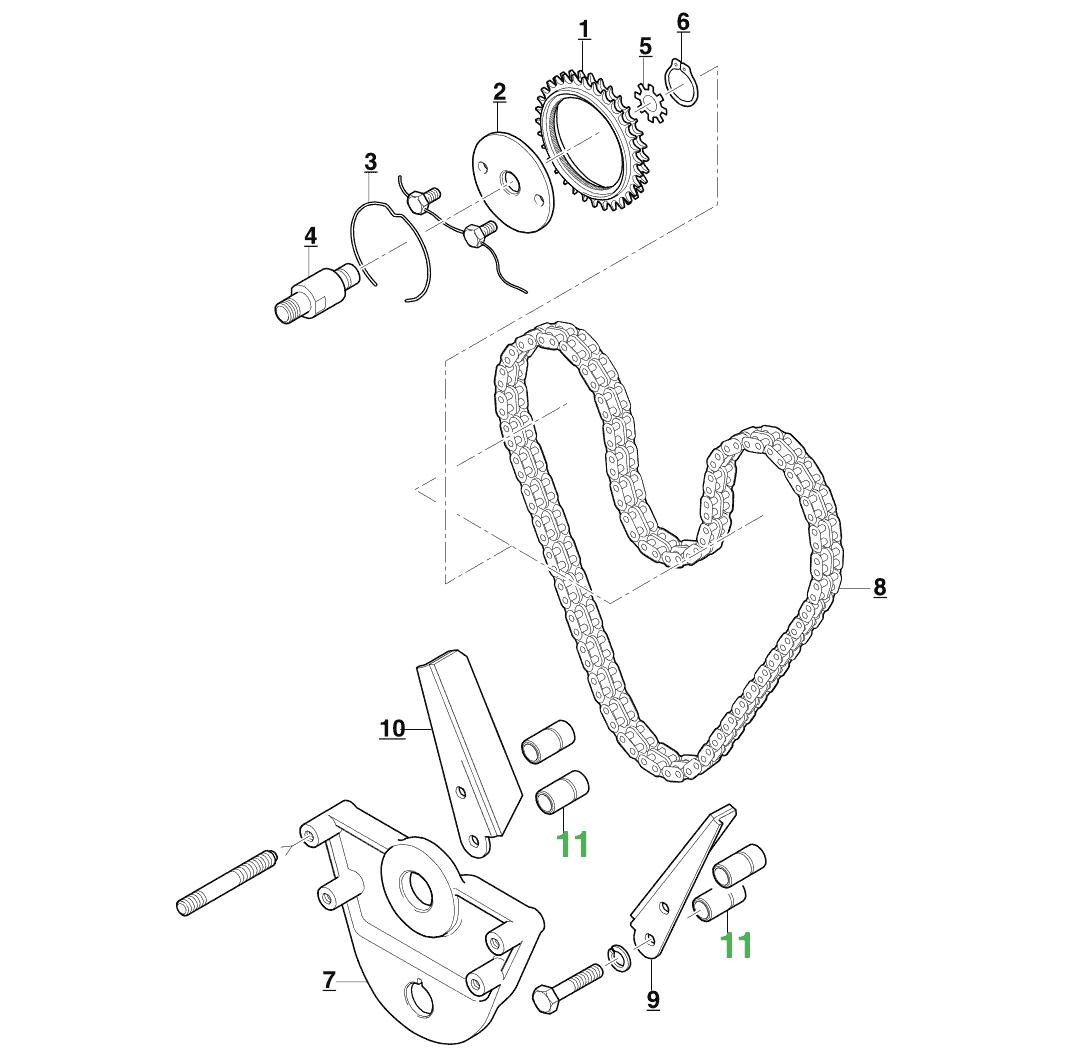 Jaguar Timing Chain Guide Distance Piece Nos C