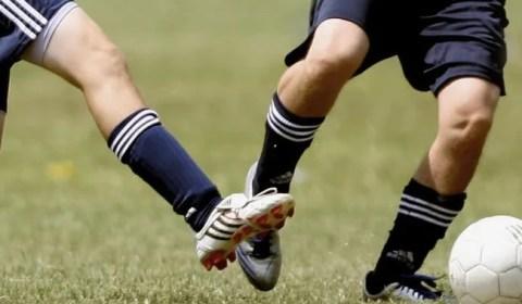 playing grassroots football