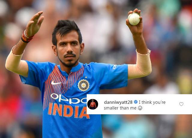 Danielle Wyatt cricketer mocked about Chahal's height