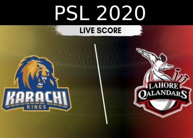 PSL 2020: KRK vs LHQ 2nd Semi-Final live score and streaming