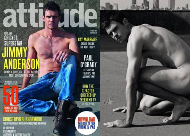 James Anderson Poses Nude For UK Gay Magazine