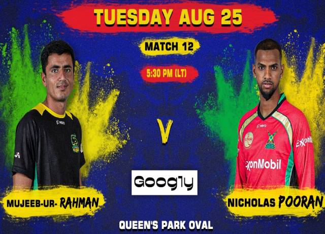 CPL 2020, 12th Match : JT vs GAW live score & streaming