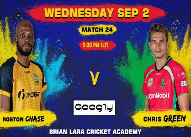 CPL 2020, 24th Match : SLZ vs GAW live score & streaming